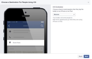 Call to action Facebook Mobile
